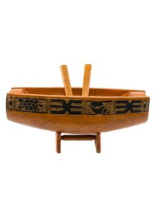 Large Wooden Lali Drum with Base, Brown, 17″ x 6″ x 6″