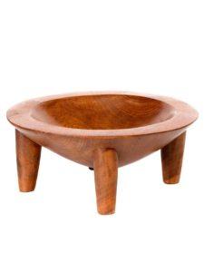 Wooden Kava Bowl (Tanoa), Brown, 10″