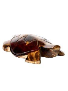 Mako Wooden Turtle (Vonu), plain red, 6″