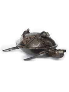 Wooden Turtle Dish with Lid