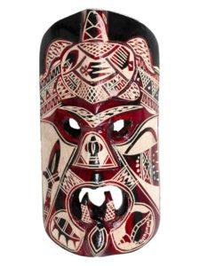 Mako Wooden Mask, 12″