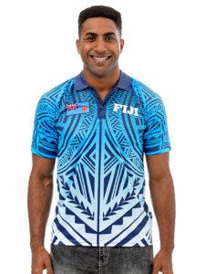 Fiji Flag Sublimation Polo T-Shirt