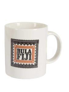 Fiji Tapa Mug White