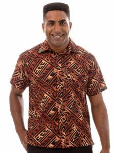 Kai-Veikau Bula Shirt – Abstract Tapa