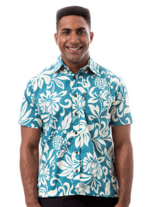 Kai-Veikau Bula Shirt – Floral With Pineapple