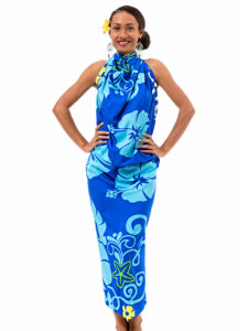 Polyester Sarong With Hibiscus Print