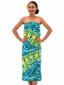 Polyester Sarong With Tapa Print