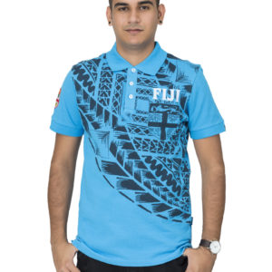 men's fiji flag pique polo shirt