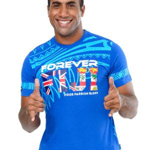 fiji flag t-shirt forever fiji