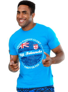 Fiji Flag T-Shirt Fiji Islands Jl18-018