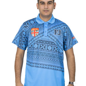 fiji flag sublimation polo shirt