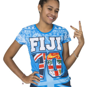 women's fiji flag sublimation t shirt