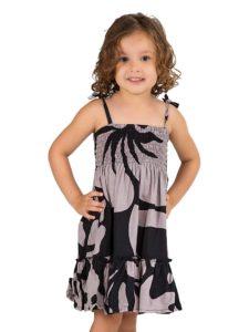 Girls Divah Sun Dress With Hibiscus Print