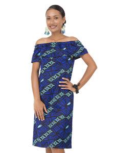 Divah Off Shoulder Printed Dress