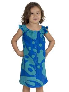 Girls Divah Dress With Hibiscus Print