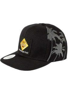 Fiji Gold Flat Peak Snap Back Cap