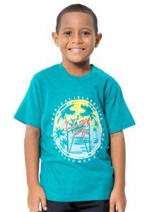 Boys Tees With I Love Fiji Print