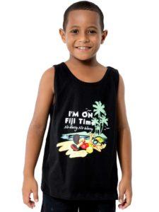 Boys Vest With I am On Fiji Time