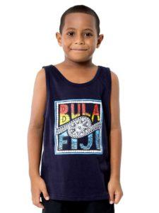 Boys Vest With Bula Fiji