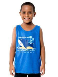 Boys Vest With Shark Print