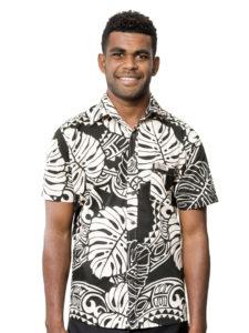 Men's Kaiveikau Premium Shirt, Big Leaf with Tapa