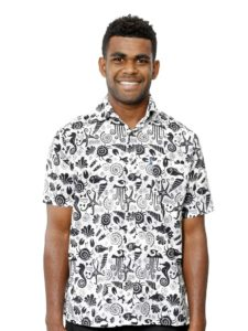 Men's Aisokula Bula Shirt, Sea life