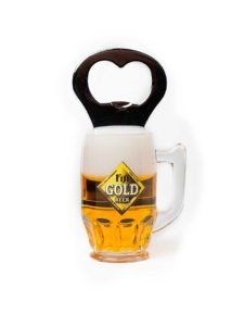 Fiji Gold Mug Opener with Magnet