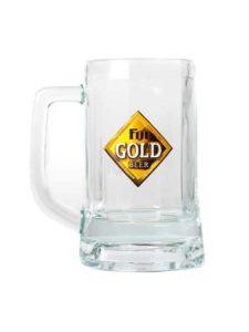 Fiji Gold Glass Mug, 355ml