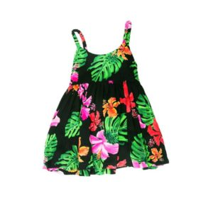 Infant Girls Strap Printed Dress