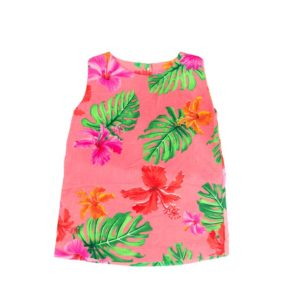 Infant Girls Printed Dress, Short Sleeve