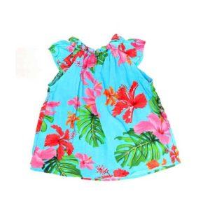 Infant Girls Gather Printed Dress