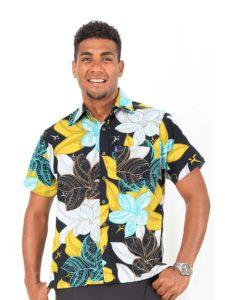 Aisokula Bula Shirt, Plumeria