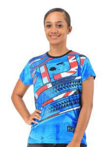 Ladies' Fiji Flag Sublimation Tees