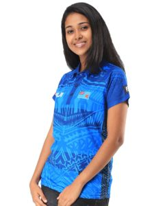 Ladies' Fiji Flag Sublimation Polo T-Shirt