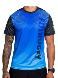 Fiji Rugby Sublimation T-Shirt, Blue & Black