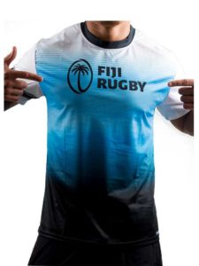 Fiji Rugby Sublimation T-Shirt, Blue & White