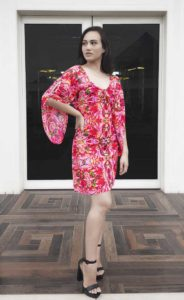 Baby Boo, Short Dress, Khata Bhaji Print