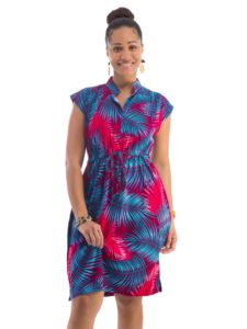 Divah Women's Printed Drawstring Dress