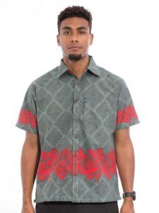 Men's Aisokula Bula Shirt, Tanoa