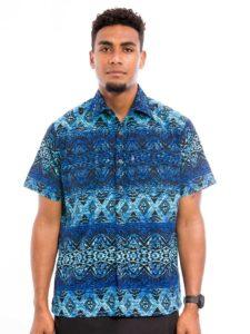 Men's Aisokula Bula Shirt, Trapez
