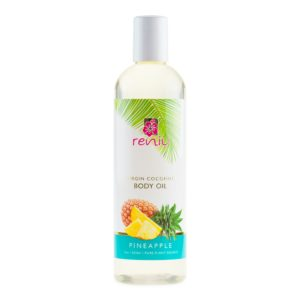 Reniu Virgin Coconut Body Oil, Pineapple, 12oz