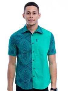Men's Aisokula Slim Panel Bula Shirt